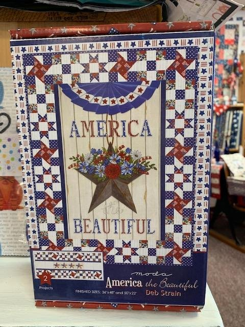 America the Beautiful Kit (2 projects) Wall Quilt 36x48; Runner 50x22