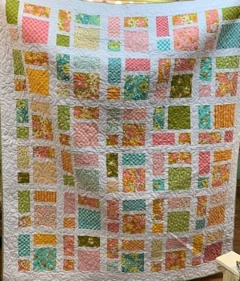 French Vanilla Quilt Kit (from the book Perfect 10)  fabric line by Mareen McCormick from Moda
