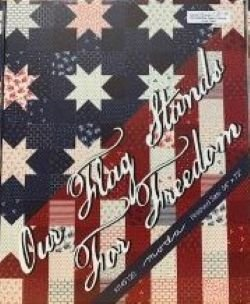 Our Flag Stands For Freedom Kit 54x72;  wall hanging 27x36