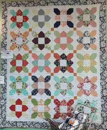Prairie Flower Quilt (includes binding) 74 x 84