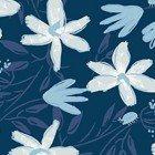 Blue Goose Floral Navy Blue Y3099-53