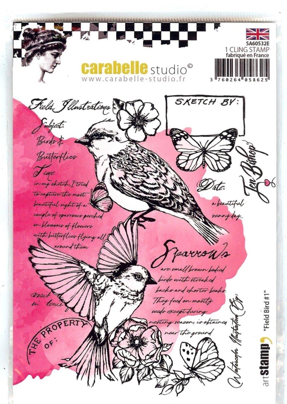 Carabelle Studio Cling Stamp - Field Bird #1 By Jen Bishop