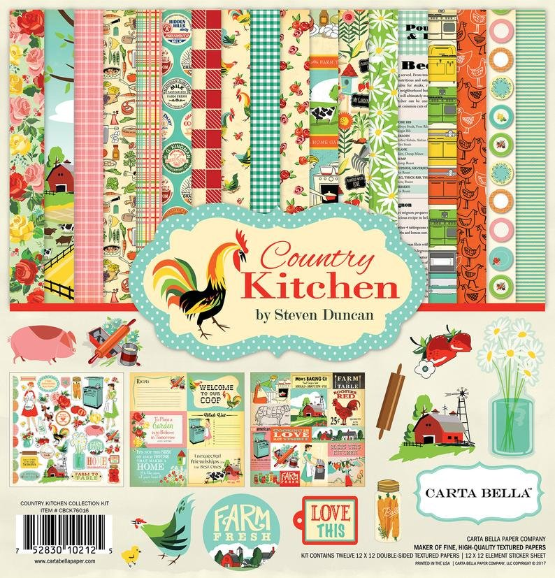 Carta Bella Collection Kit 12x12 - Country Kitchen