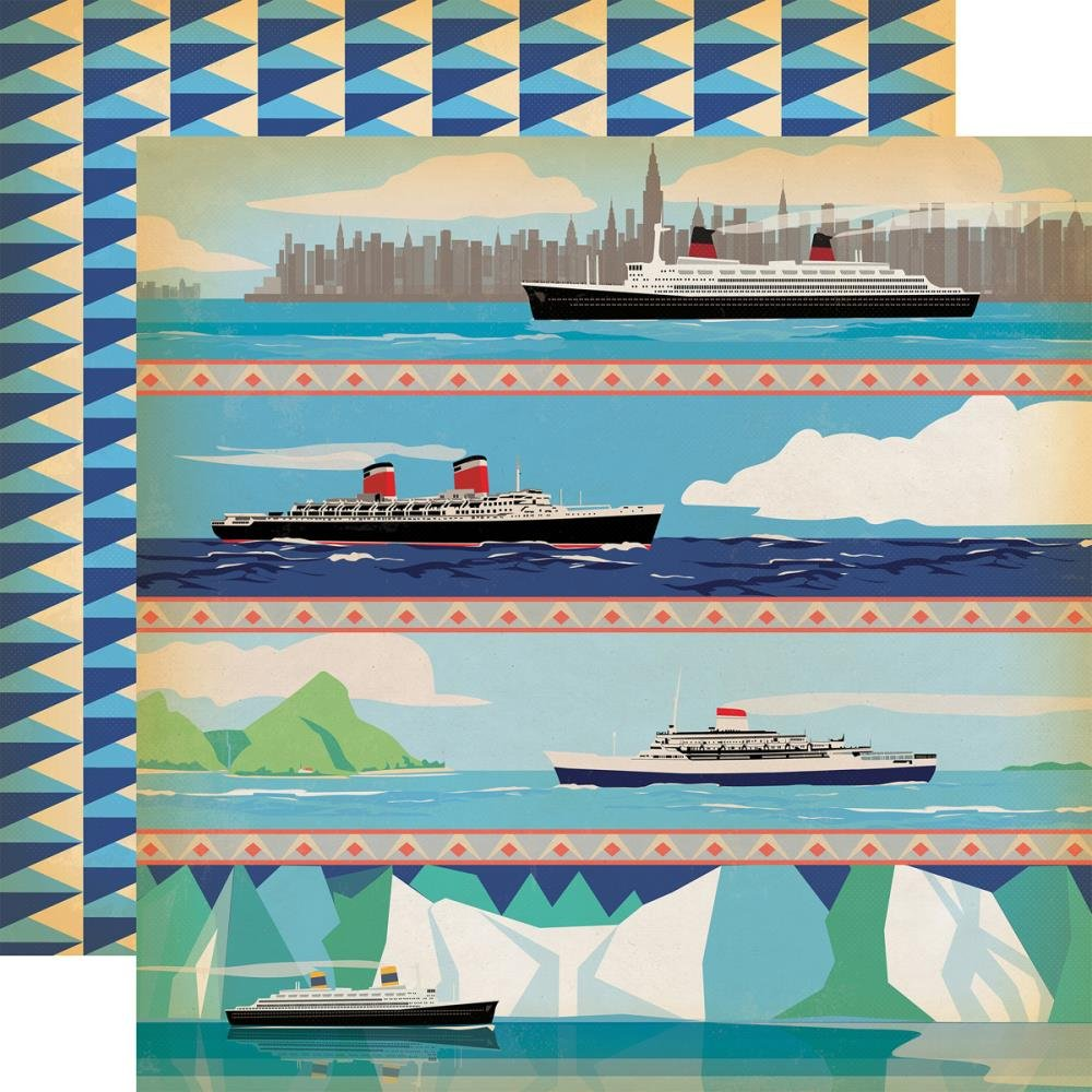 Carta Bella - Let's Cruise, Sea You Later Double-Sided Cardstock, 12 x 12