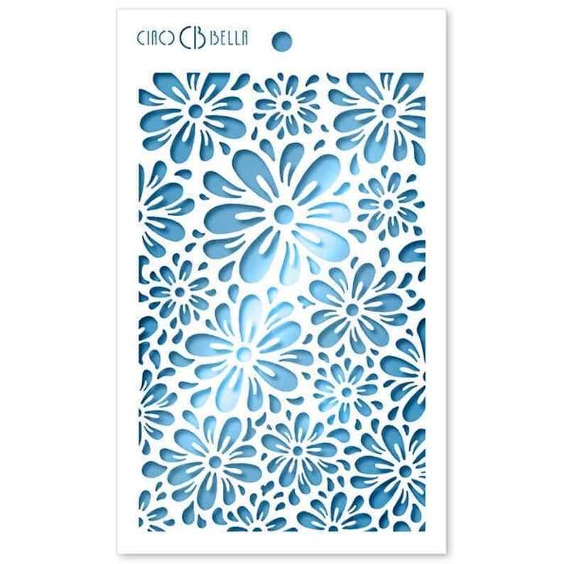 Ciao Bella Stencil Art Texture Stencil - Blossom, 5x8