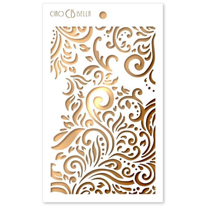 Ciao Bella Stencil Art Texture Stencil - Flourish, 5x8