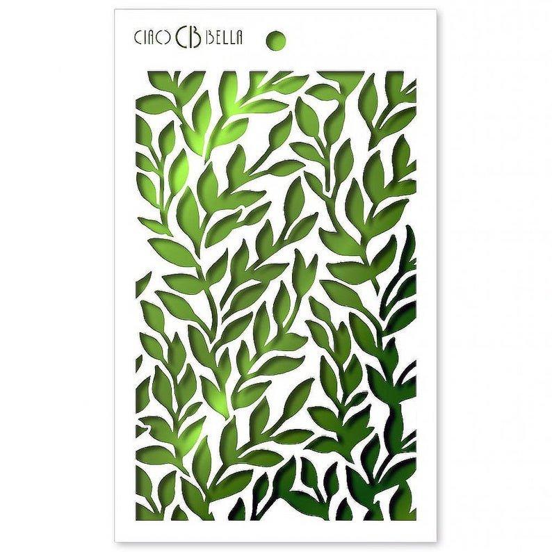 Ciao Bella Stencil Art Texture Stencil - Ramage, 5x8