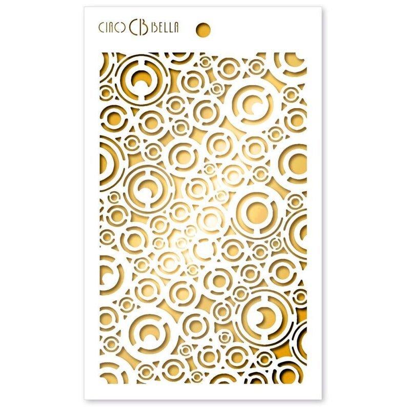 Ciao Bella Stencil Art Texture Stencil - Washers, 5x8