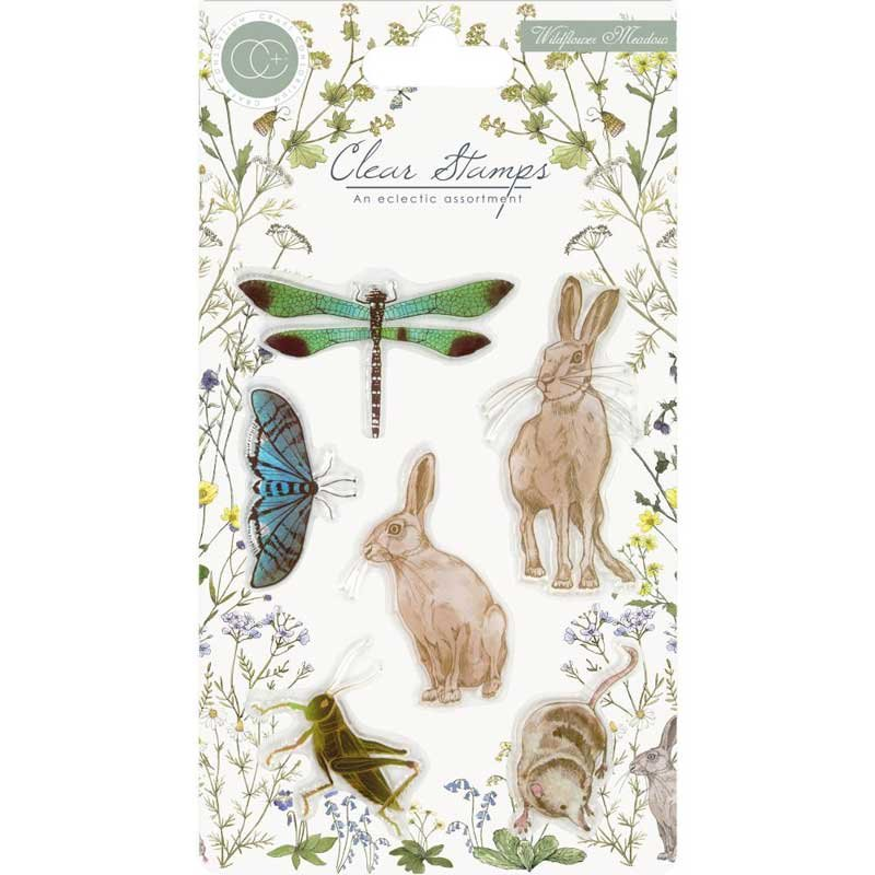 Craft Consortium - Wildflower Meadow, Meadow Clear Stamp Set
