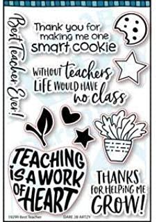 Dare 2B Artzy - Best Teacher Clear Stamp Set