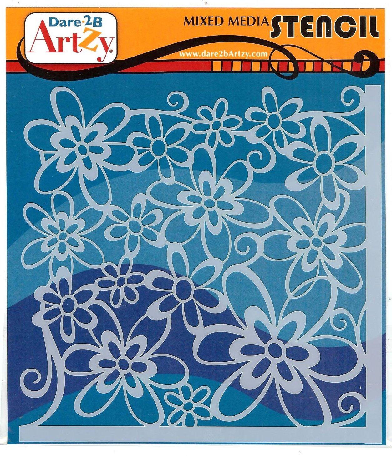 Dare 2B Artzy - Corner Flower Stencil