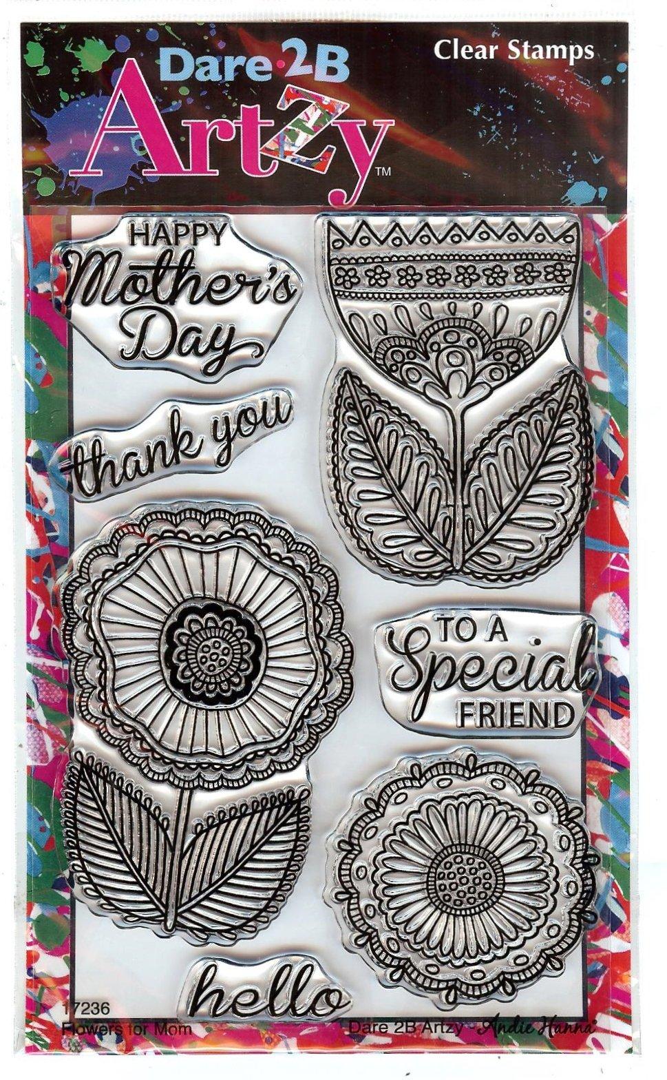 Dare 2B Artzy - Flowers 4 Mom, Clear Stamp Set