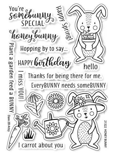Dare 2B Artzy - Honey Bunny Clear Stamp Set