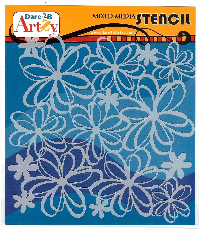 Dare 2B Artzy - Wild Flower Stencil
