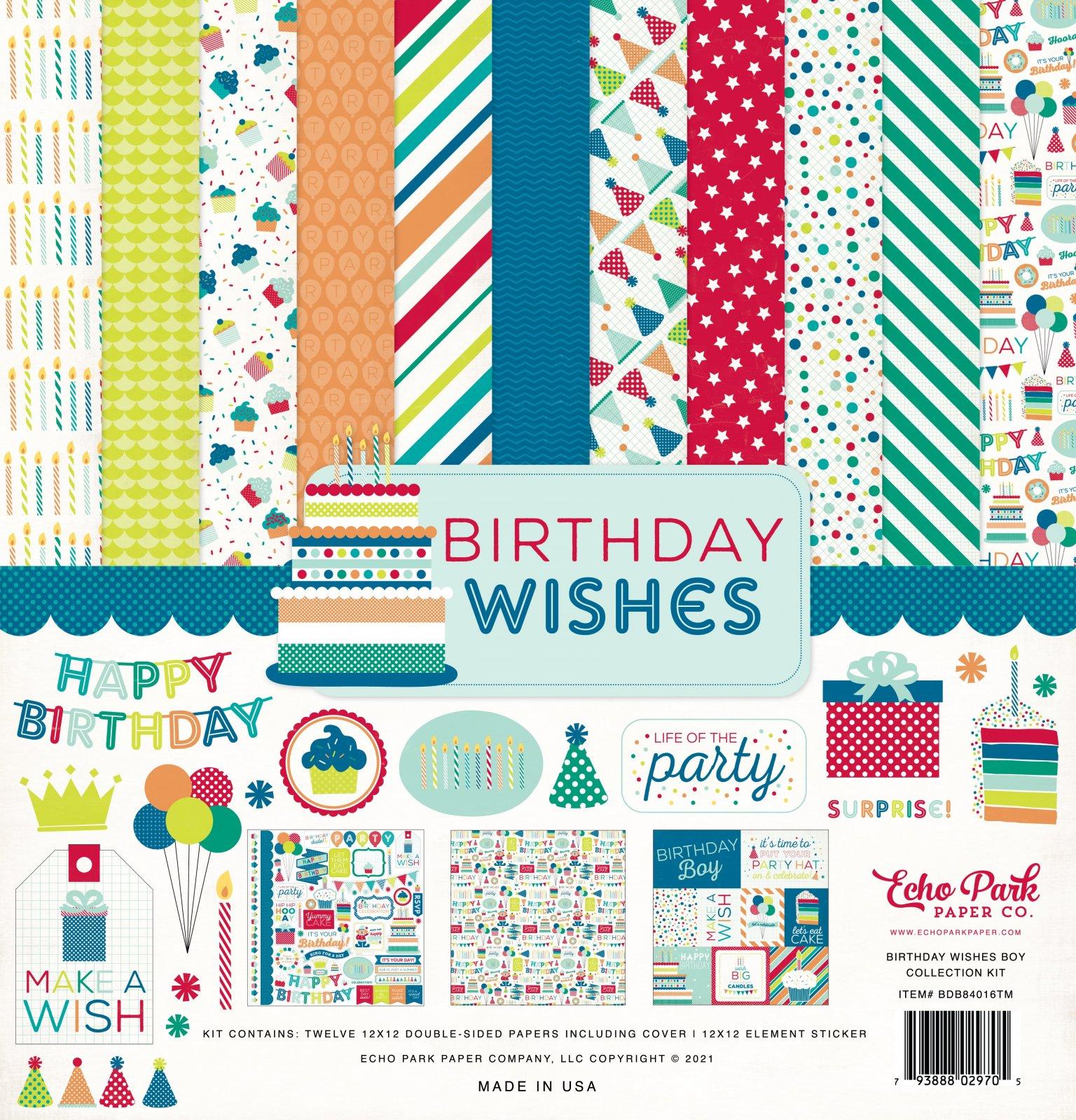 Echo Park Collection Kit 12x12 - Birthday Wishes Boy