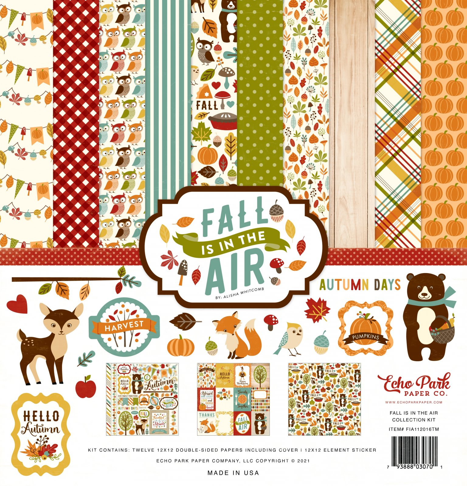Echo Park Collection Kit 12x12 - Fall is in the Air