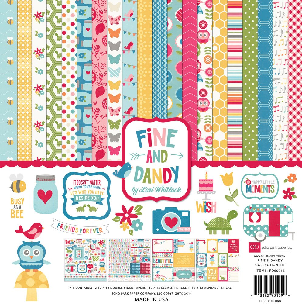 Echo Park Collection Kit 12x12 - Fine & Dandy