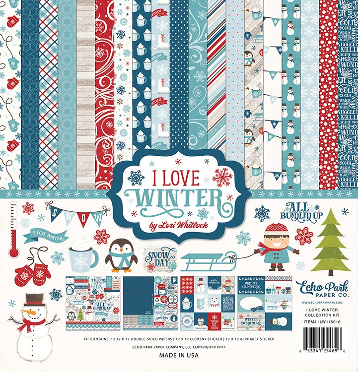 Echo Park Collection Kit 12x12 - I Love Winter 12x12