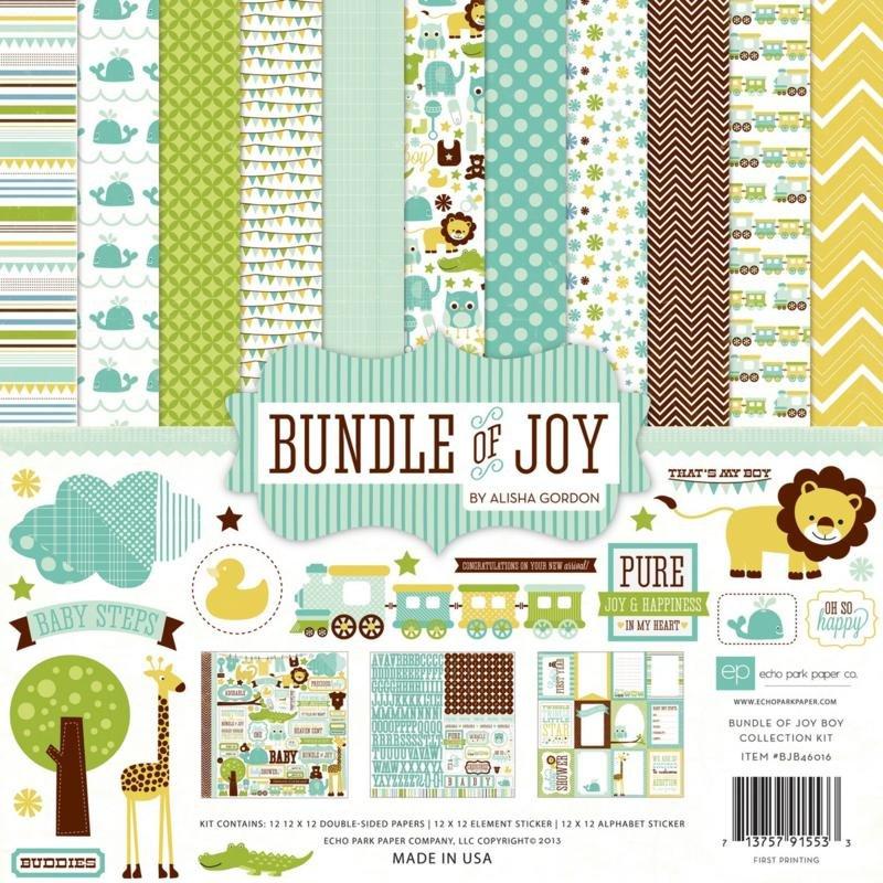 Echo Park Collection Kit 12x12 - Bundle of Joy Boy