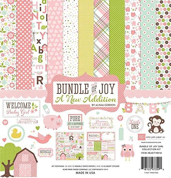 Echo Park Collection Kit 12x12 - Bundle of Joy Girl