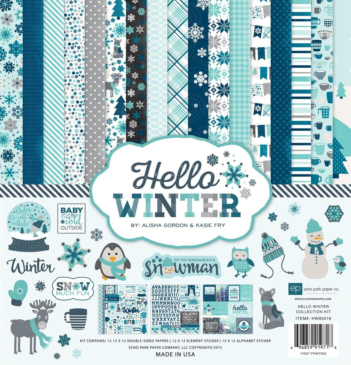 Echo Park Hello Winter Collection Kit - 12 x 12