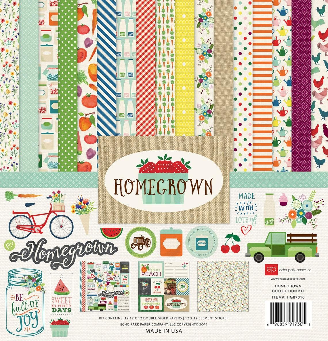 Echo Park Collection Kit 12x12 - Homegrown