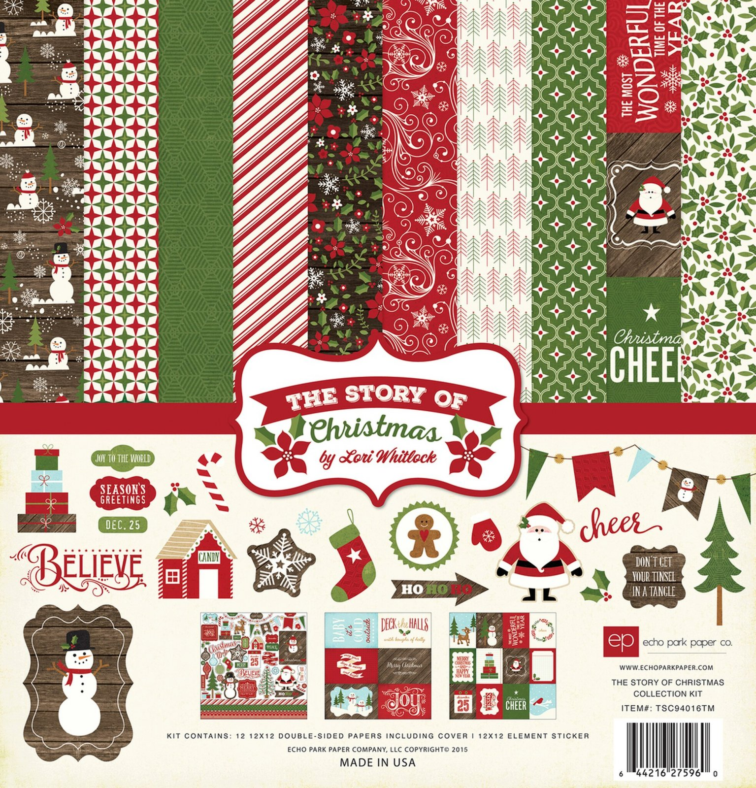 Echo Park Collection Kit 12x12 - The Story of Christmas