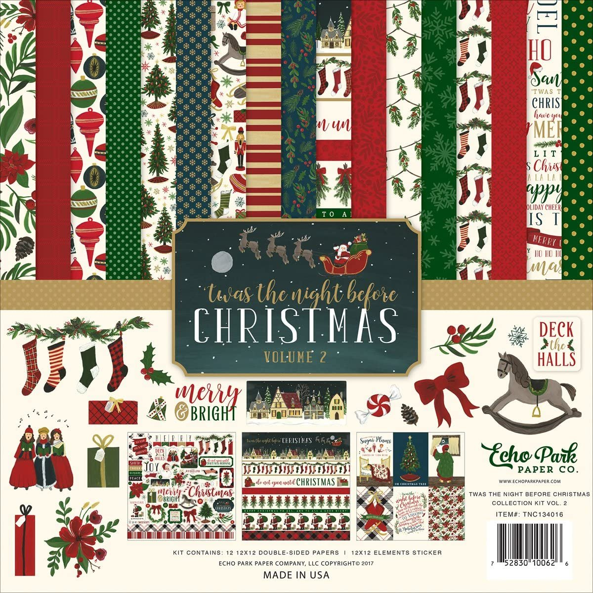 Echo Park Collection Kit 12x12 - 'Twas the Night Before Christmas Vol. 2