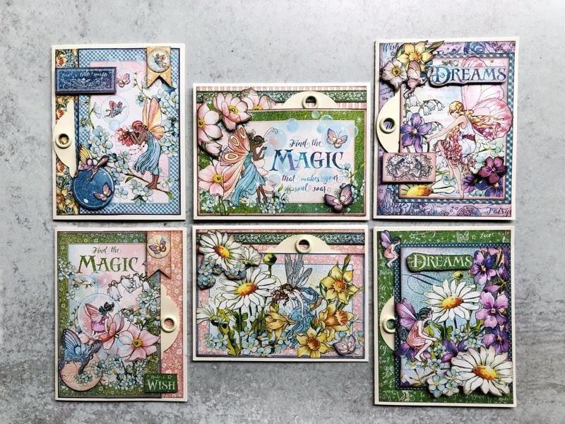 Graphic 45 - Fairie Wings, Hidden Tag Card Set