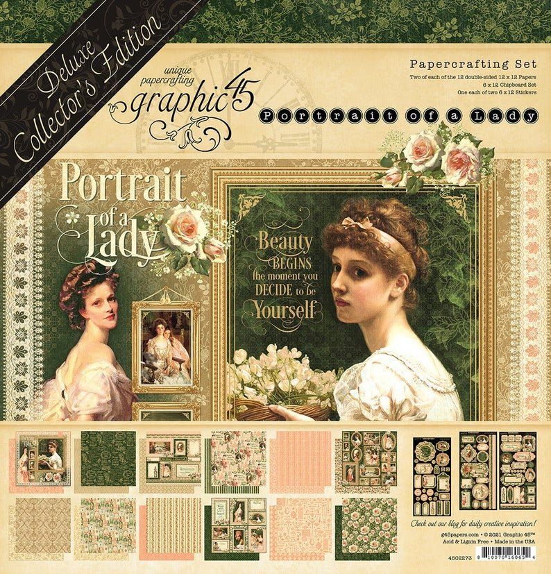 Graphic 45 Deluxe Collector's Edition Pack 12x12 - Portrait Of A Lady