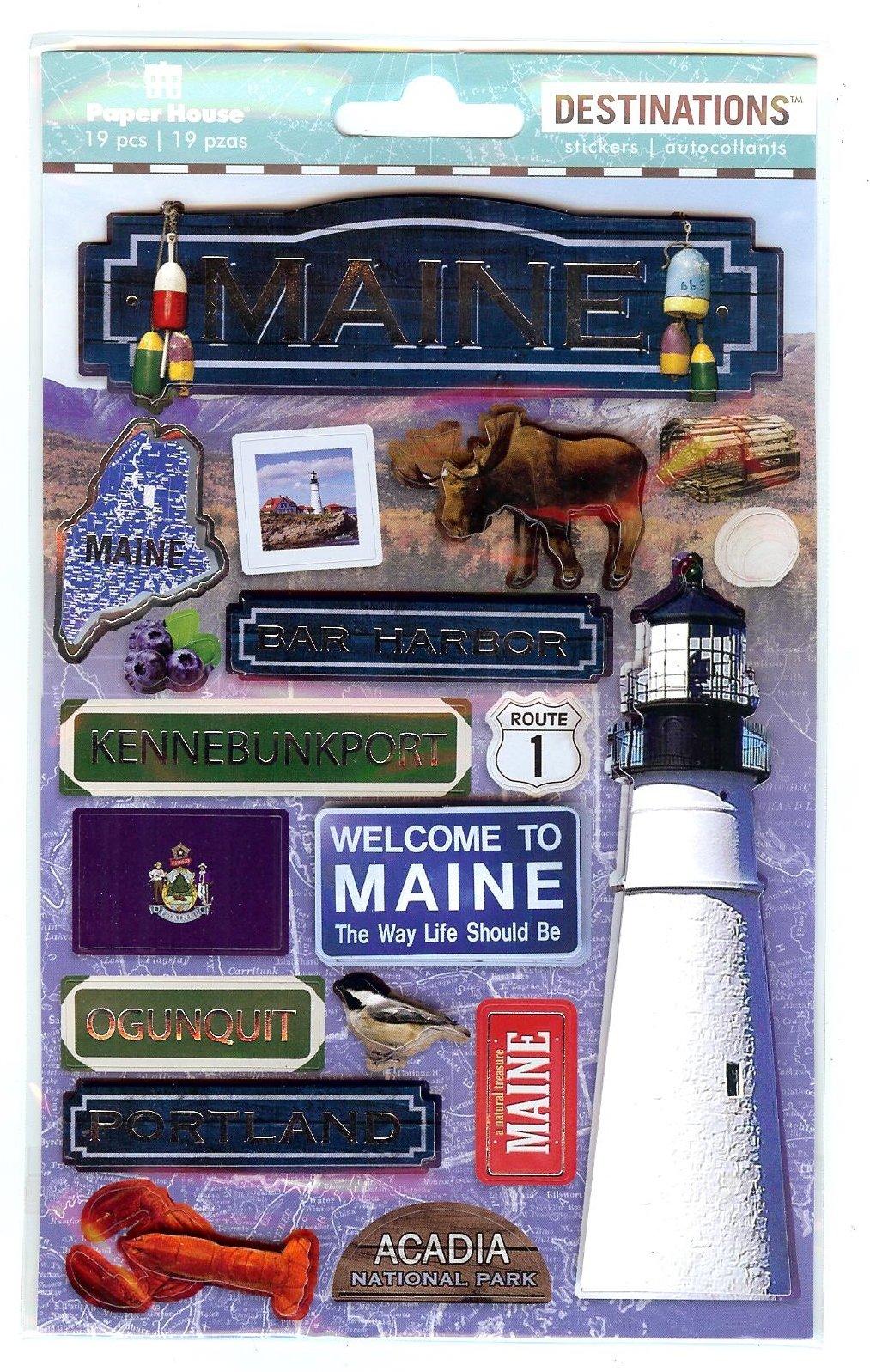 Maine - Paper House Destinations Stickers