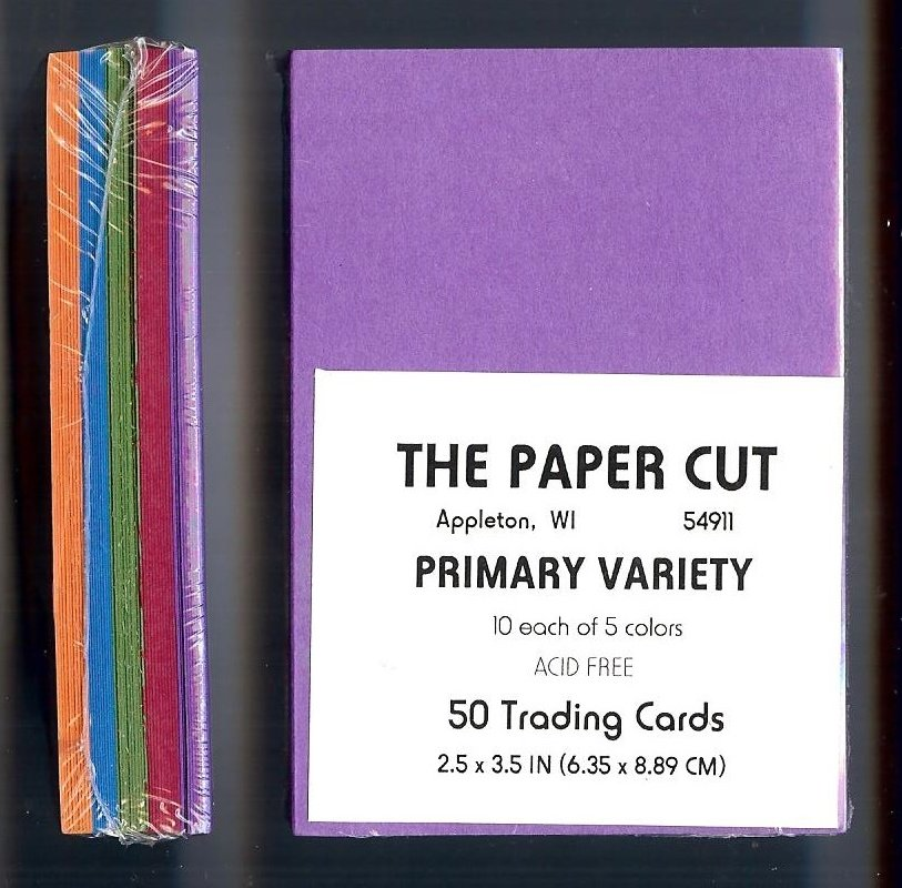 The Paper Cut - Artist Trading Cards, Primary Variety