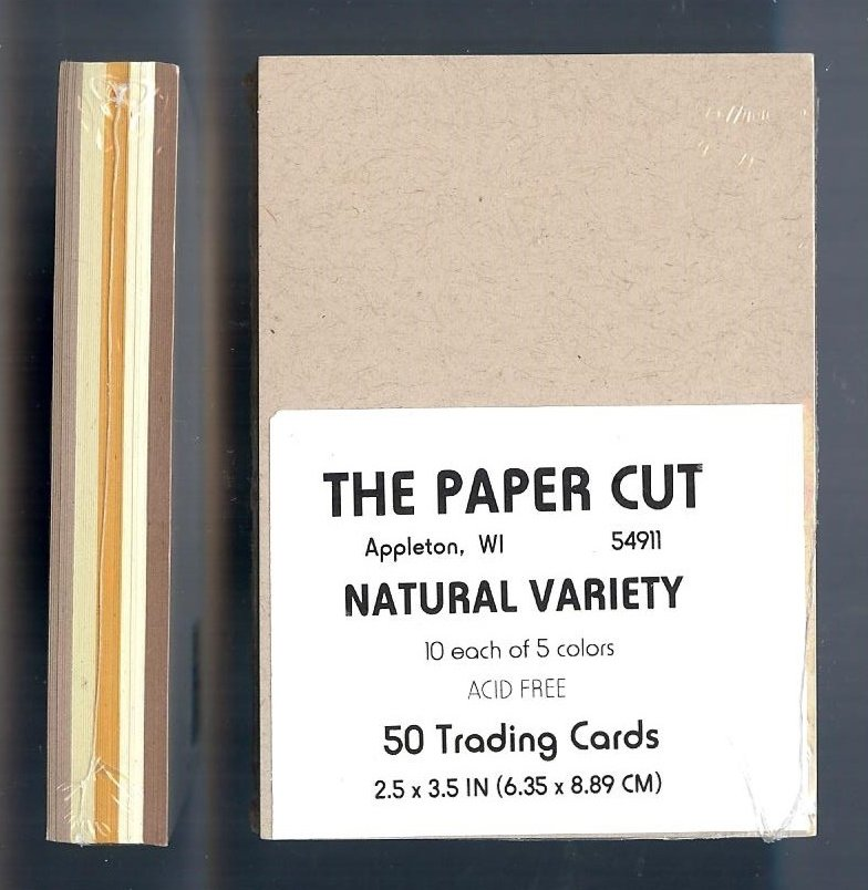 The Paper Cut - Artist Trading Cards, Natural Variety