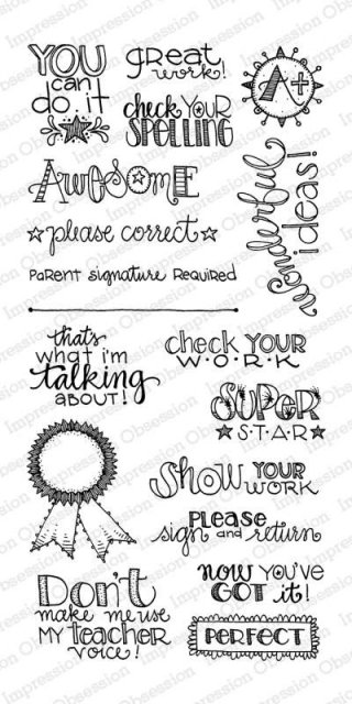 Impression Obsession - Back To School Clear Stamp Set