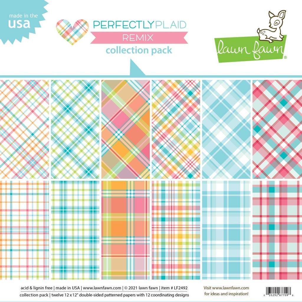 Lawn Fawn - Perfectly Plaid, 12x12 Collection Pack