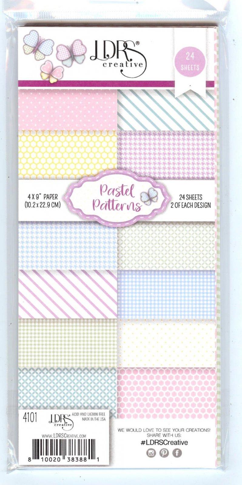 LDRS - Pastel Patterns, 4 x 9
