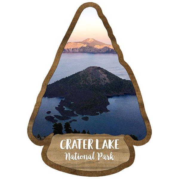 Crater Lake - National Park Watercolor Laser Die Cut