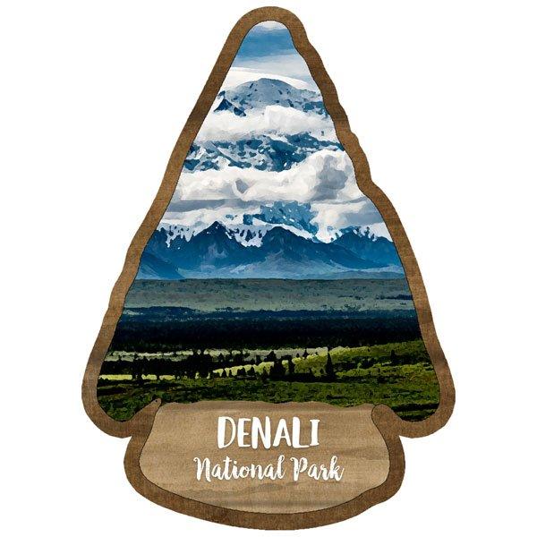Denali - National Park Watercolor Laser Die Cut