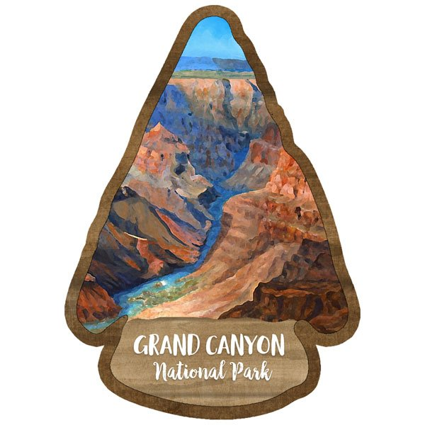 Grand Canyon - National Park Watercolor Laser Die Cut