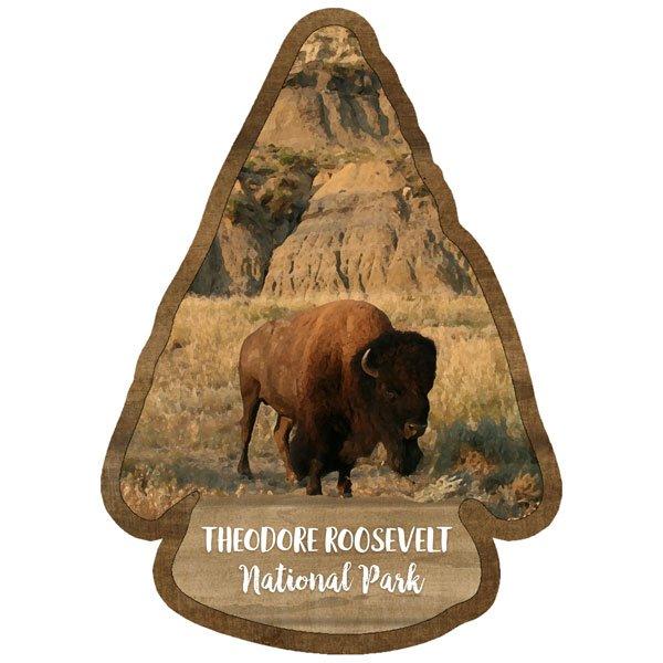 Theodore Roosevelt - National Park Watercolor Laser Die Cut