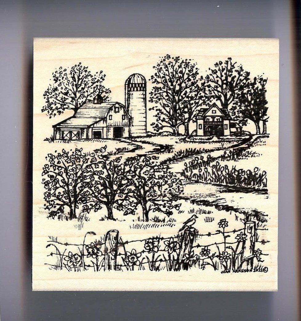 Northwoods - Spring Farm Scene