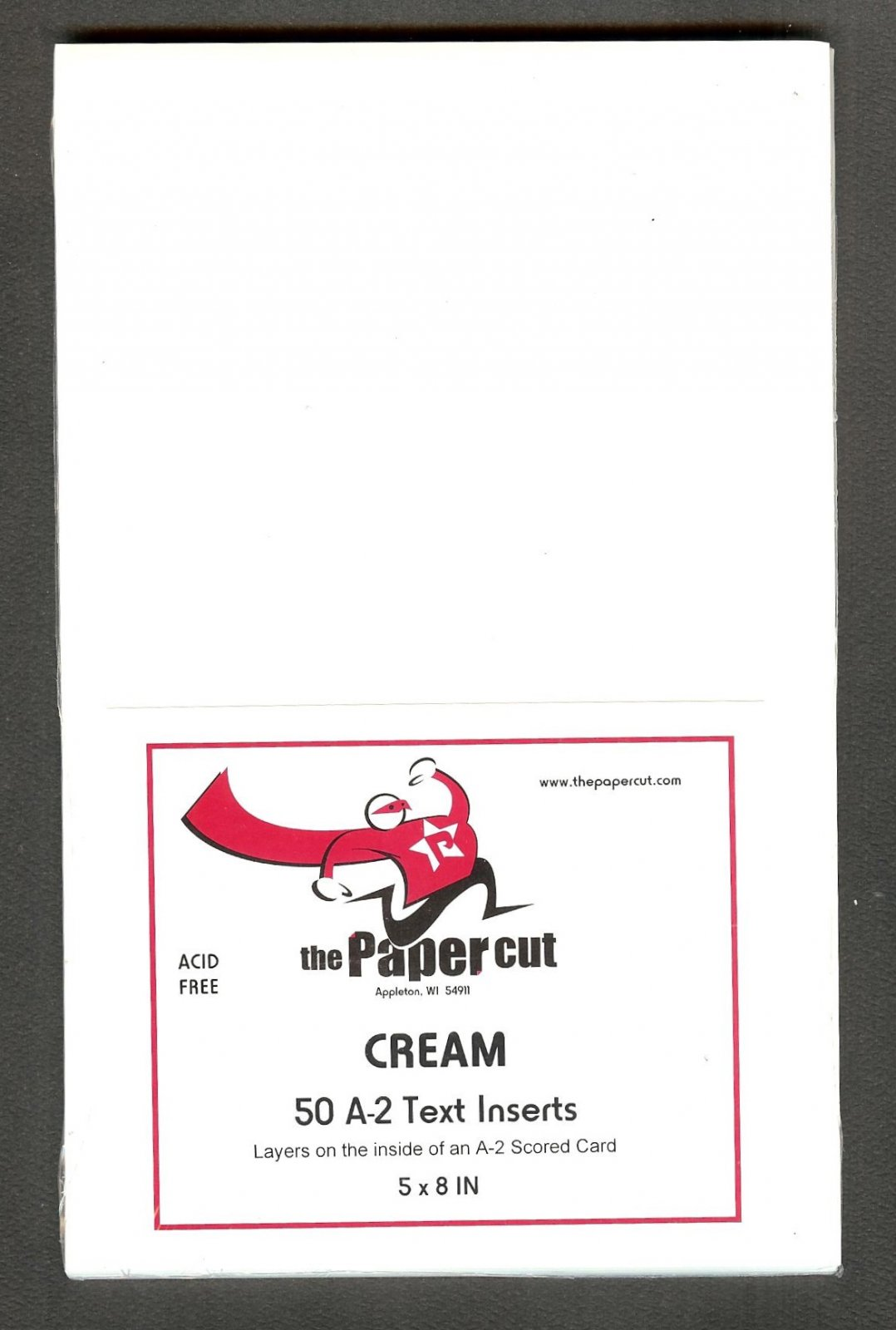 The Paper Cut - Text Inserts, Cream