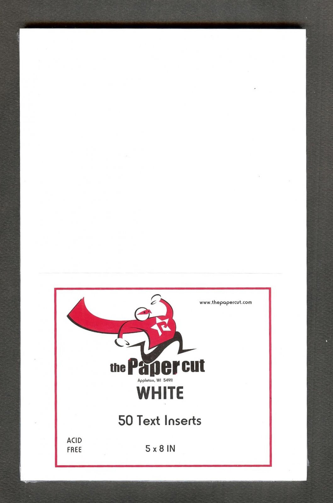 The Paper Cut - Text Inserts, White