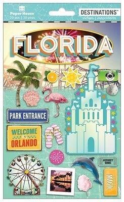 Paper House 3D Stickers Florida Magic