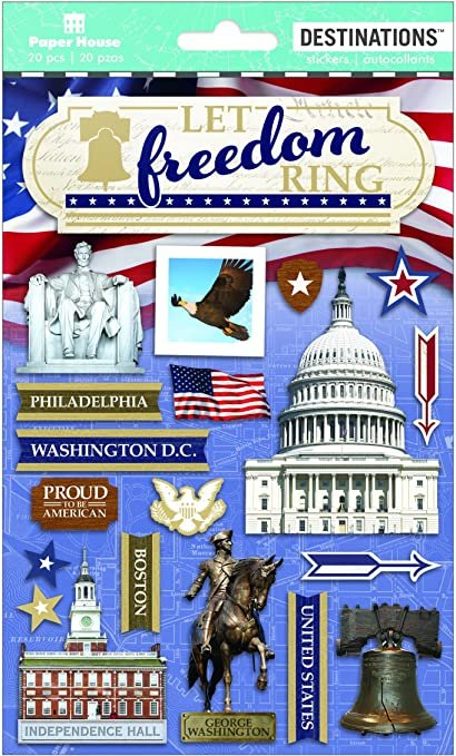 Paper House Destinations Stickers - Let Freedom Ring
