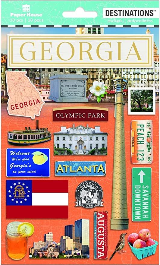 Georgia - Paper House Destinations Stickers