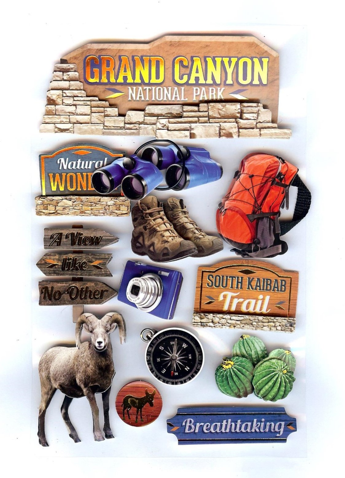 Grand Canyon National Park - Paper House 3D Stickers