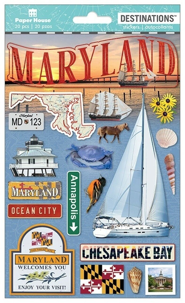Maryland - Paper House Destinations Stickers