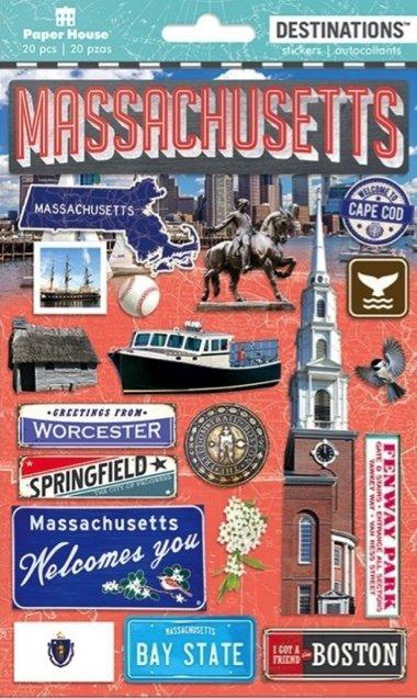 Massachusetts - Paper House Destinations Stickers
