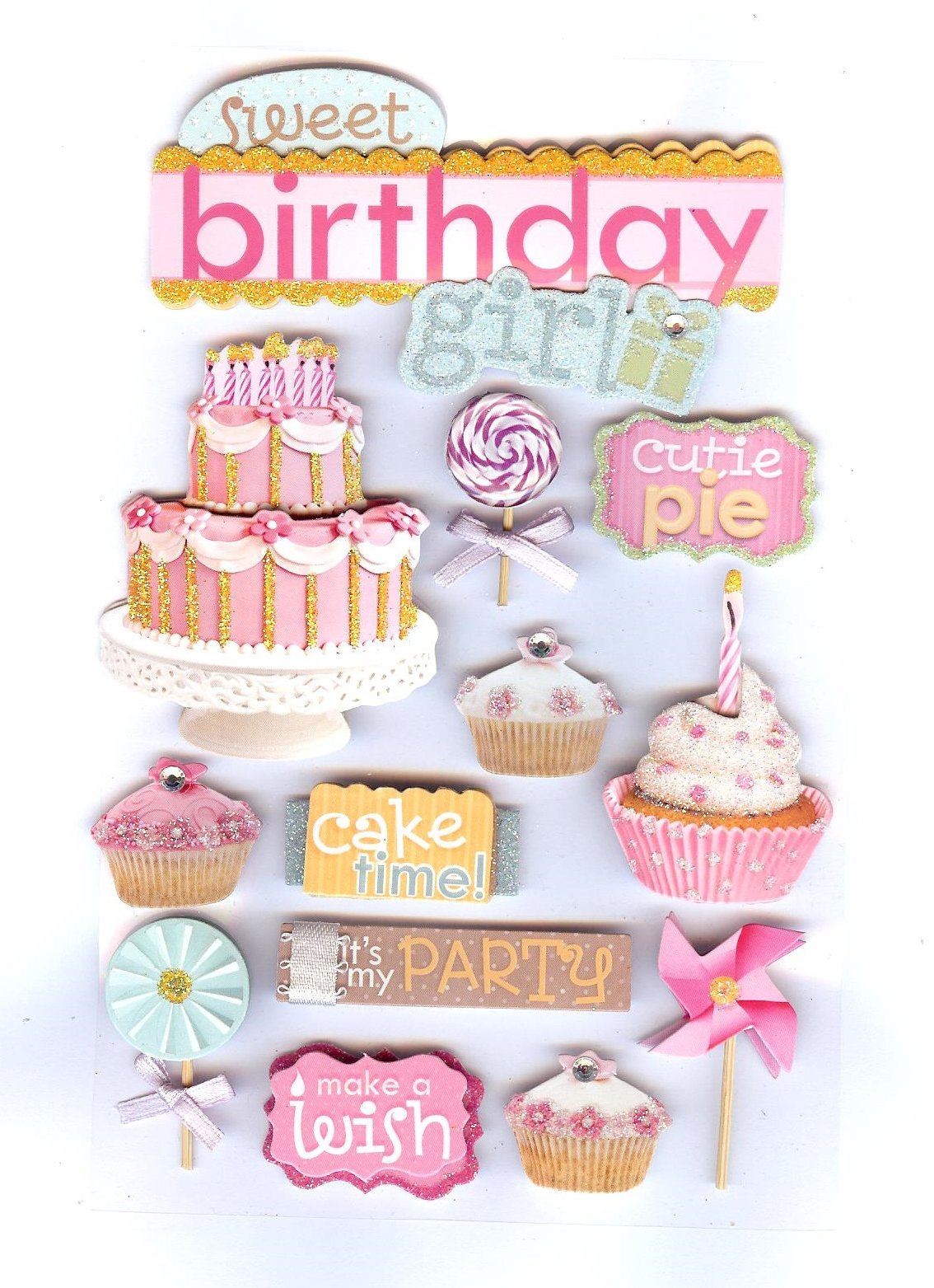 Paper House 3D Stickers - Sweet Birthday